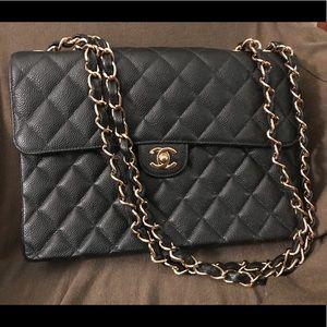 Black quilted Chanel bag, gold hardware